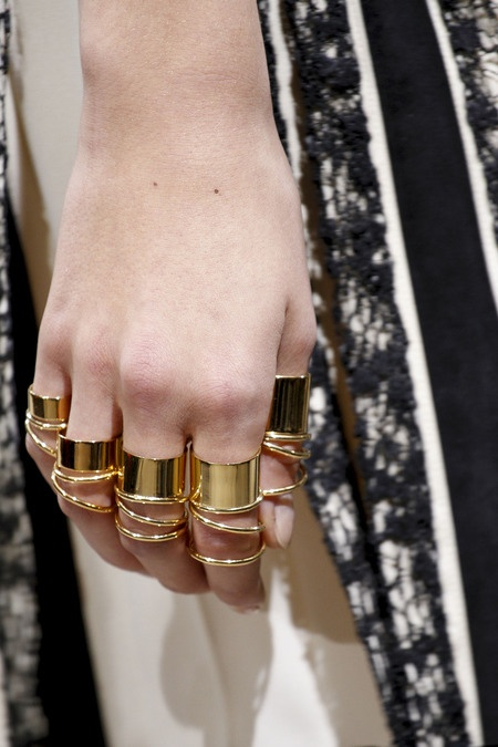Balenciaga Spring 2013 rings