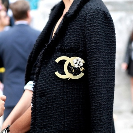 Classic Chanel tweed jacket
