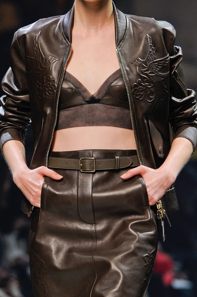 Leather on leather on leather - Loewe Spring 2013
